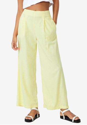 Cotton On yellow Wide Leg Paradise Pants 1572EAA61A46ECGS_1