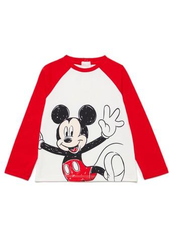 OVS white Mickey Mouse T-Shirt DC340KA7283397GS_1