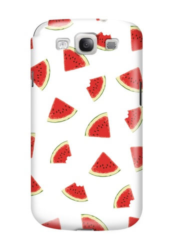 Wonder Cover white and red Watermelon Slice Glossy Hard Case for Samsung Galaxy S3 WO617AC07NZGPH_1