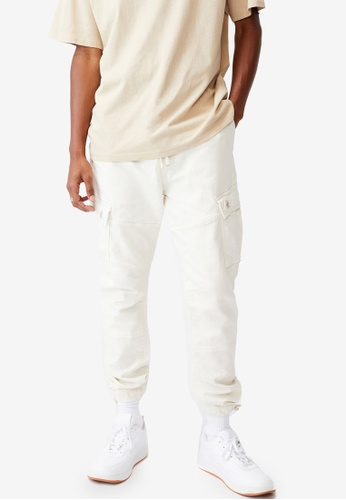Cotton On white Military Cargo Pants 10D0FAAF0FFE83GS_1