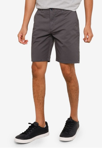 Springfield grey Elastic Chino-Style Bermuda Shorts 340CBAAAAB9A5FGS_1