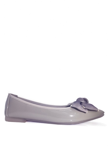Twenty Eight Shoes grey Comfort Two Tones Bow Ballerinas VL266108 24137SHA40B934GS_1