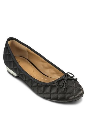 菱格軟襯低跟鞋,zalora 折扣碼 女鞋, 鞋