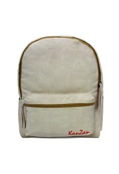 Modish Kanzan High Quality Leather Backpack (Cream)