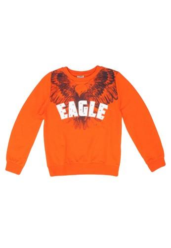 LC Waikiki orange Boy's Printed Sweatshirt D5E2AKAF58735CGS_1