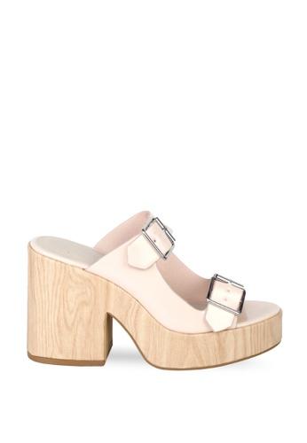 London Rag beige Blush Chunky Heel Sandal EC995SH9C913FFGS_1