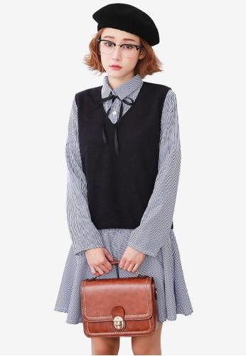 Sesura blue Intellectually Cute Vest Dress Combo 7BE2FAA35288B3GS_1