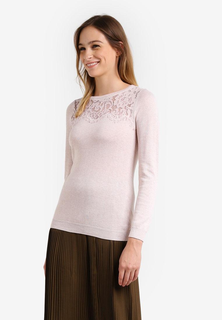 Lace Jumper Yoke Petite Blush Pink Wallis qwznp1xHFU