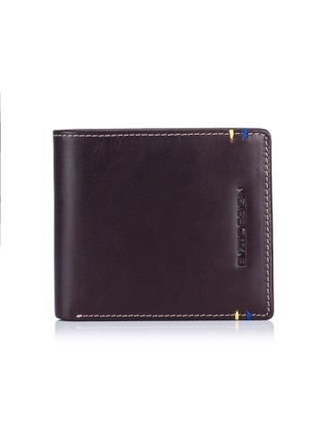 ENZODESIGN brown Two Tone 14 Card Slots Italian Leather Bi-fold Wallet EN357AC0FP71SG_1