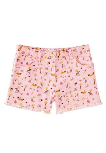 Du Pareil Au Même (DPAM) pink Print Shorts 8831CKAEFF8646GS_1