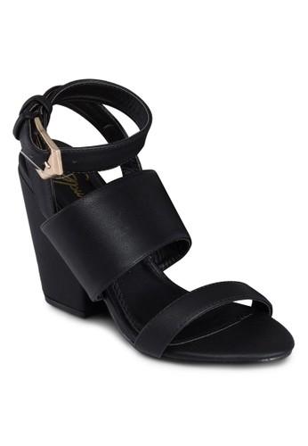 Melia 繞踝粗跟涼鞋, 女鞋,esprit 內衣 細帶高跟鞋