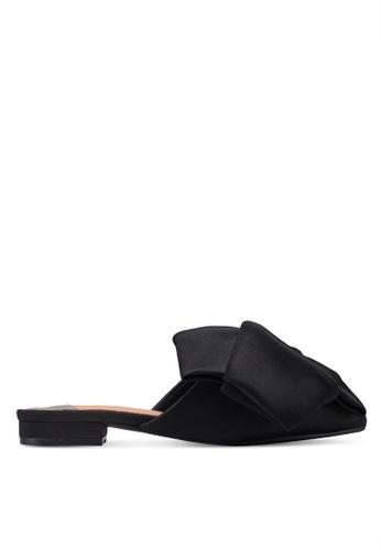 Something Borrowed 黑色 絲綢緞帶平底鞋 82725SH7732134GS_1