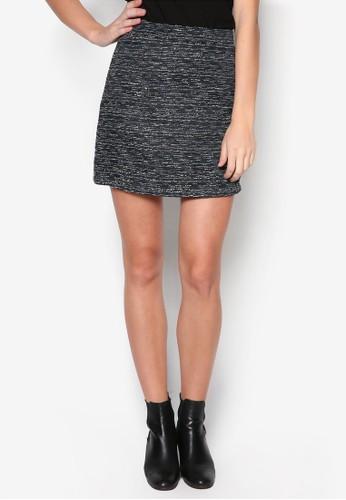 zalora 泳衣混色針織西裝短裙, 服飾, 裙子
