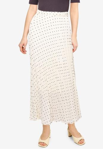 LOWRYS FARM white Plisse Skirt D6507AA34E2230GS_1
