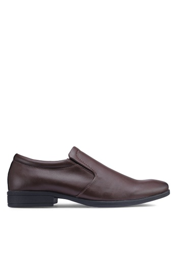 Bata brown Faux Leather Dress Shoes 3B707SH9980A1DGS_1