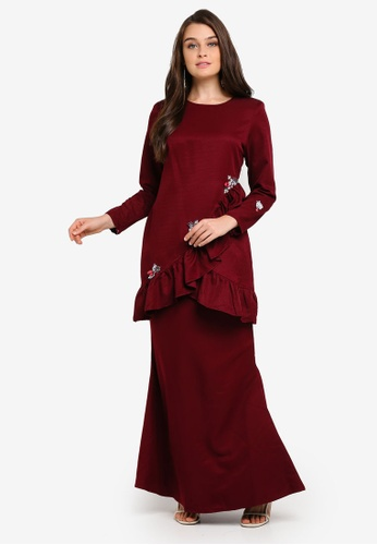 Kurung Modern from peace collections in Red