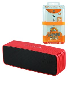 Portable Mini Bluetooth Speaker with Uplus 12000mAh Powerbank