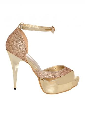 Celsius gold Celsius - Peep Toe Platform Pump 6252-2 Women (Gold) 24DB1SHCDB4A3DGS_1