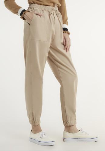 ULTRAVIOLET beige Bora Jogger Pants 543 A6553AAB8544A6GS_1
