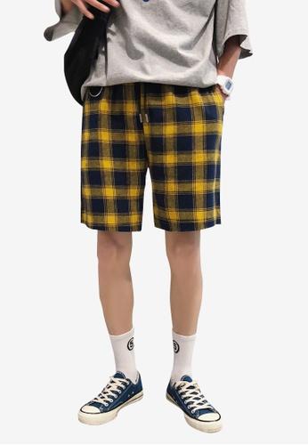 hk-ehunter multi Men Plaid Shorts DE903AA7277BF0GS_1