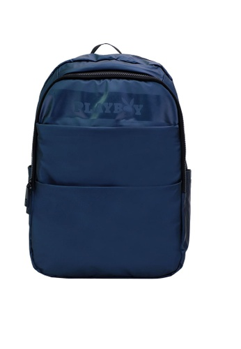 Playboy blue Logo Front Detail Laptop Backpack D41E0ACF45EF4EGS_1