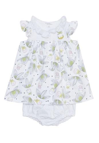 Du Pareil Au Même (DPAM) white Printed Dress E49B8KADED101BGS_1