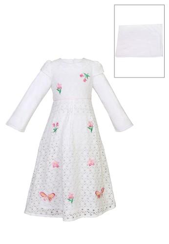 ESTRELLA white Muslim Dress Anak ESM 161 2/5 AB6BBKA0EA5F2DGS_1