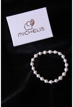 Michelis Elasticated Pearl Bead Bracelet