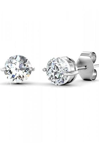 Her Jewellery silver Swarovski® Zirconia -Elegant Earrings (18K White Gold Plated) Her Jewellery HE581AC0RDQGMY_1