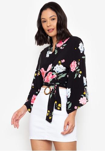 Juanita The Label black Kimono Tie Top 24566AACF041F7GS_1