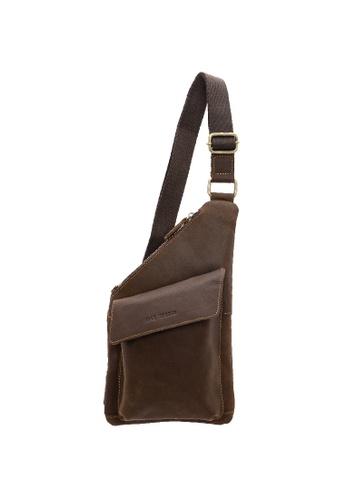 Jack Studio brown Jack Studio Genuine Leather Crossbody Bag Chestbag 479C1AC80C515EGS_1