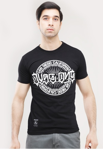 Dyse One black Round Neck Muscle Fit T-Shirt 18716AAF79C886GS_1