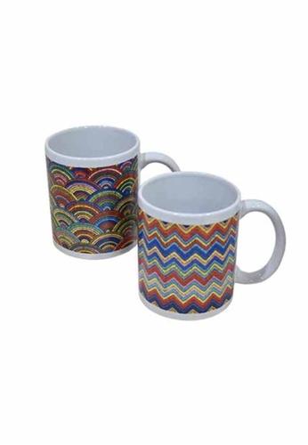 Slique red Premium Limited Edition Ceramic 2 Pcs Mug Set 300 ml 461D5HLC94B43CGS_1