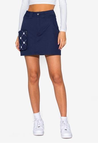 Local Heroes 海軍藍色 Mini 口袋Skirt 5F8D7AAEF881CCGS_1