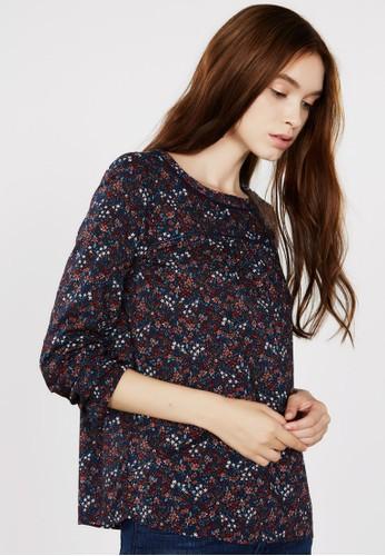 印花長袖T-shirt、 服飾、 服飾ESPRIT印花長袖上衣最新折價
