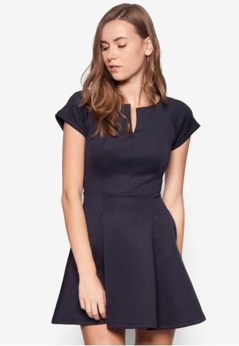 簡zalora 包包評價約素色連身裙, 服飾, 正式洋裝