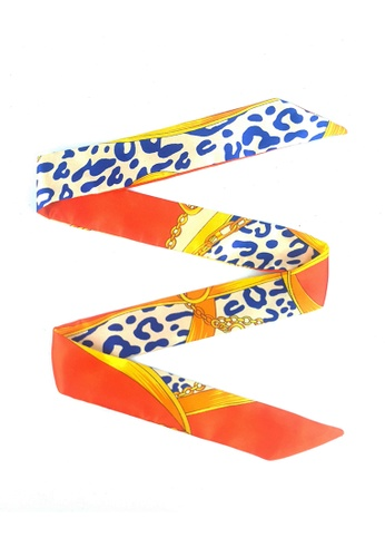 BELLE LIZ multi Ribbon Decoration Bag Silk Scarf Style 3 CAA9AAC3D4264CGS_1