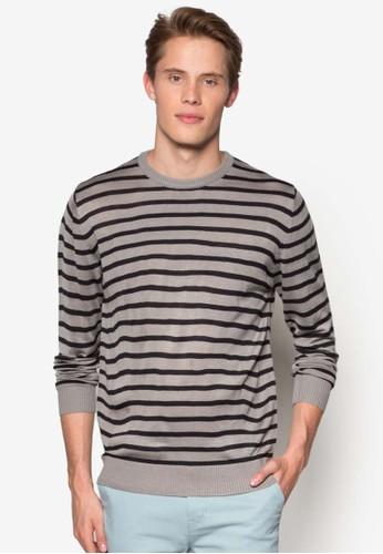 平織條紋長袖esprit地址衫, 服飾, 服飾