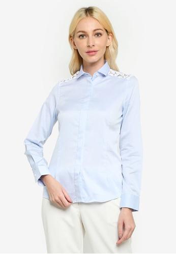 Sacoor Brothers blue Long Sleeve Women's Classic Shirt 28677AA64E03FFGS_1