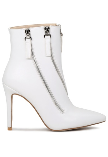 London Rag white White High Heel Boot with Zippers SH1706 DE273SH075D6E8GS_1
