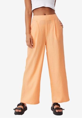 Cotton On orange Wide Leg Paradise Pants 32640AAD505644GS_1