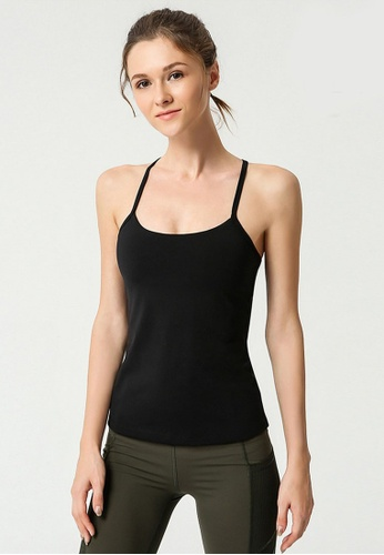B-Code black ZYG3042-Lady Quick Drying Running Fitness Yoga Sports Tank Top -Black 7804EAA52C1B69GS_1