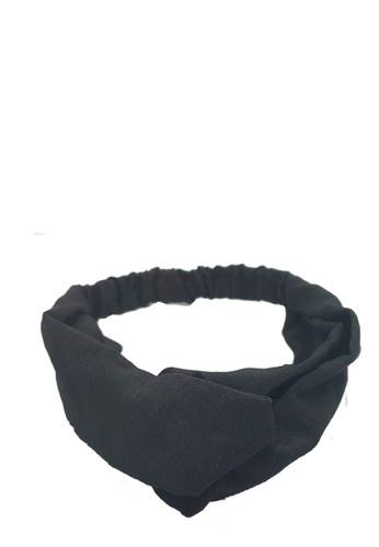 San Marco black Twisted Headband Plain Black 791CBBE721DE28GS_1