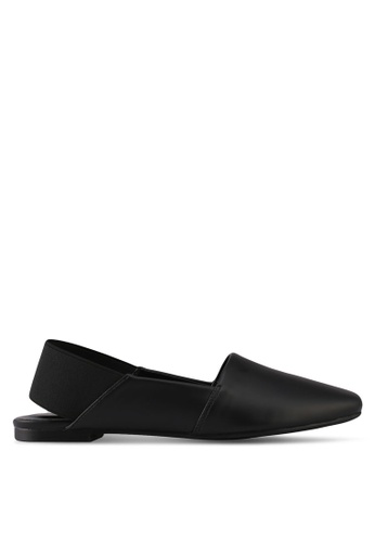 Something Borrowed black Slip On Flats With Thick Band 5AA80SH00C3E6CGS_1