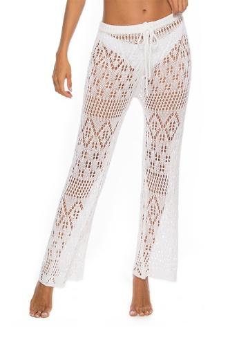 LYCKA white LTH4110-European Style Beach Casual Pants-White 3EFA2US7085D84GS_1