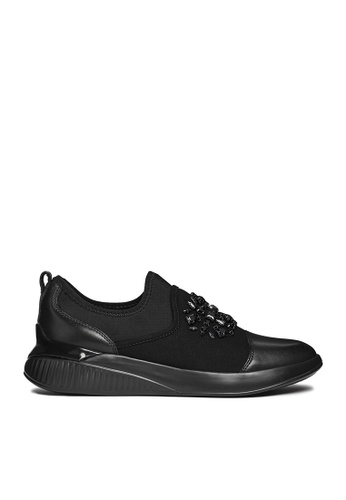 Geox black Theragon Sneakers 8E55BSHFCE3B92GS_1