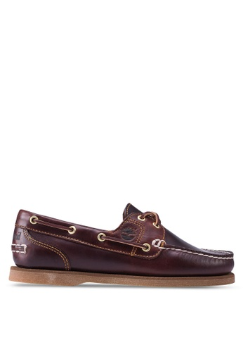 Timberland brown Classic Boat Amherst 2 Eye Boat Shoes TI063SH50MOFMY_1