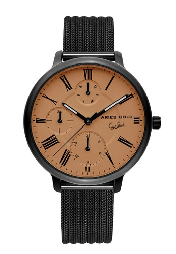 Aries Gold grey Aries Gold Voyage L 5034 Grey and Beige Watch 0863AAC76E1DC6GS_1