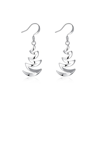 Glamorousky silver Simple and Fashion Crescent Bay Earrings 52C54AC7902202GS_1