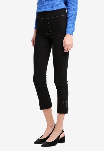 Mango black Contrast Seam Trousers 64059AA6ECC5C2GS_1